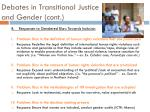 debates in transitional justice and gender cont