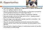 iii opportunities