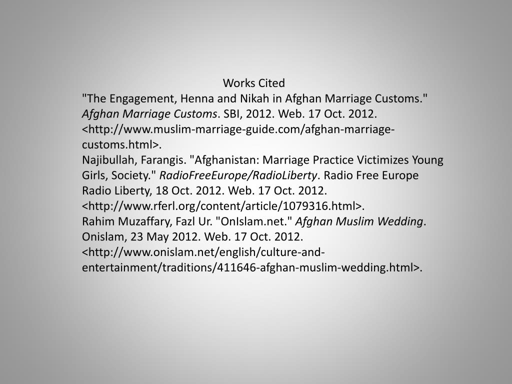 In marriage afghanistan customs For Afghans,