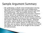 sample argument summary