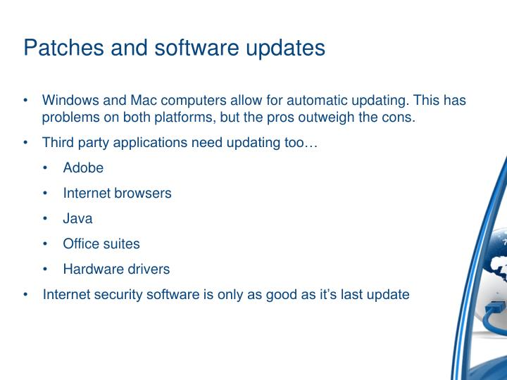 Patches and software updates