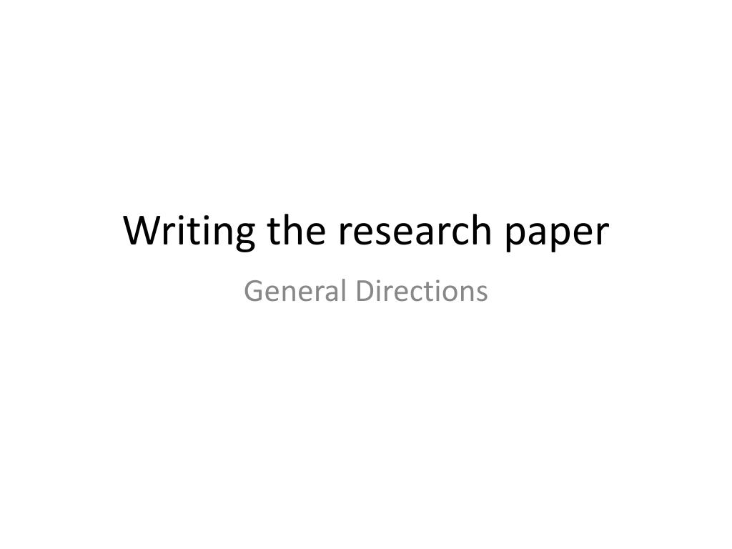 ppt on research paper