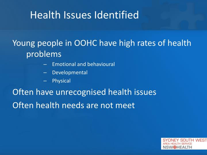 Health Issues Identified