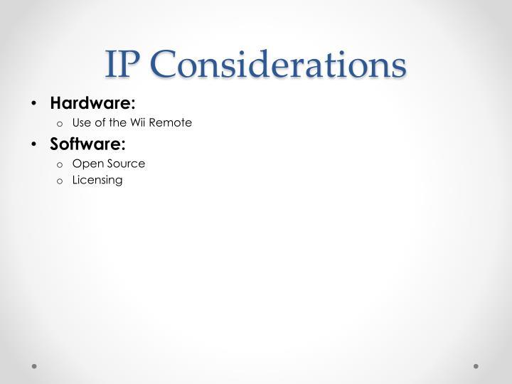 IP Considerations