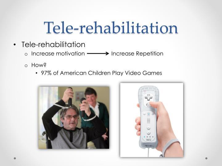 Tele rehabilitation