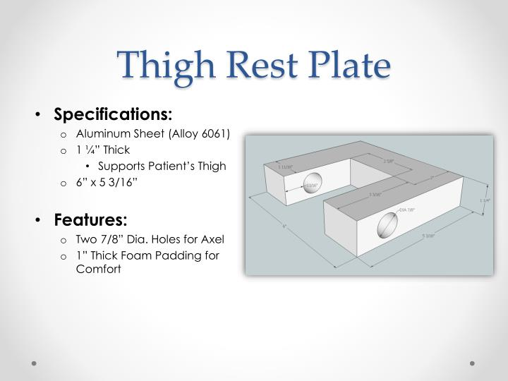 Thigh Rest Plate