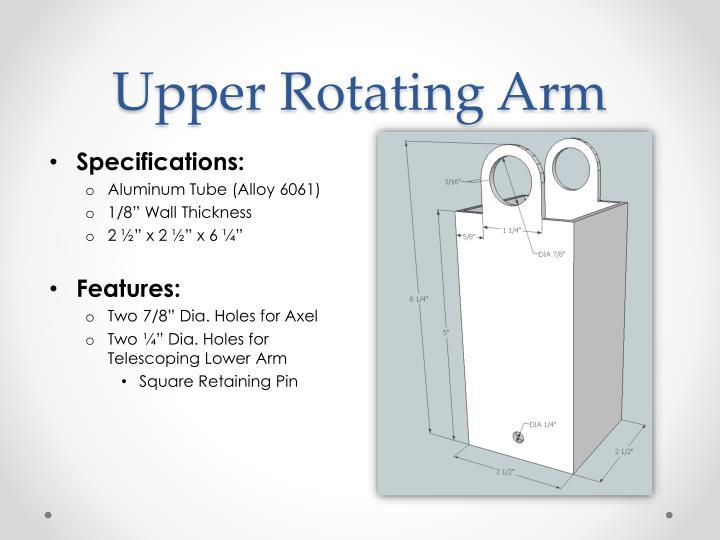 Upper Rotating Arm
