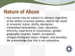 nature of abuse