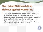 the united nations defines violence against women as