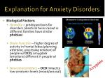 explanation for anxiety disorders1