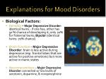 explanations for mood disorders1