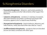 schizophrenia disorders