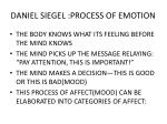 daniel siegel process of emotion