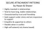 secure attachment patterns by hazan shaver