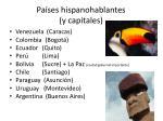 pa ses hispanohablantes y capitales