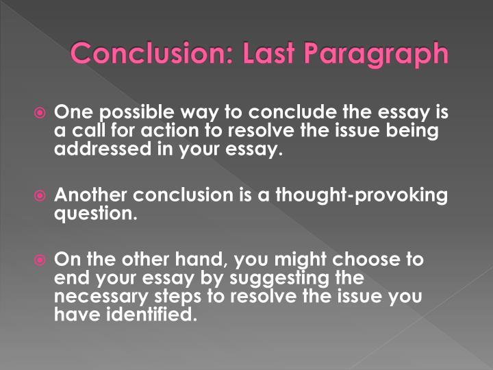 essays conclusion paragraph