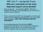 mel con 5 paragraph essay who am i and what are the most important aspects of my identity