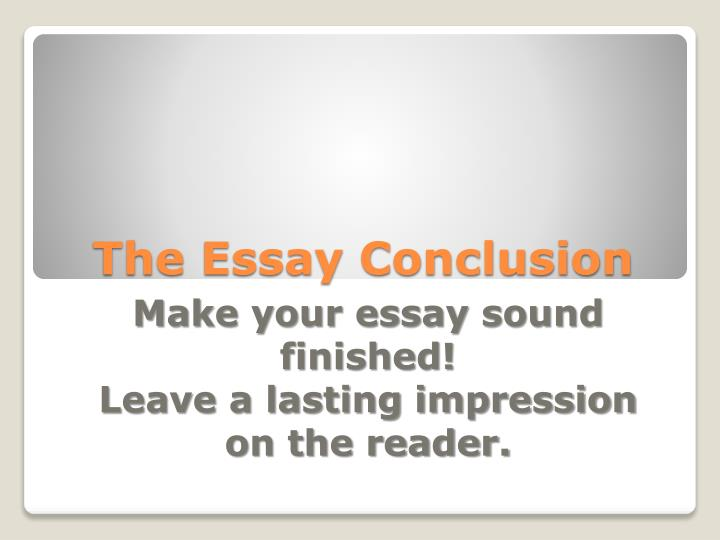 the essay conclusion n.