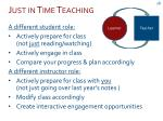 just in time teaching1