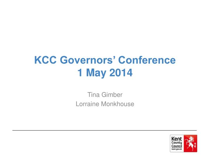 kcc governors conference 1 may 2014
