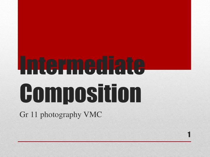 intermediate composition n.