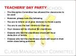teachers day party