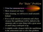 pet stain problem