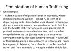 feminization of human trafficking1