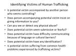 identifying victims of human trafficking1