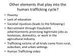 other elements that play into the human trafficking cycle
