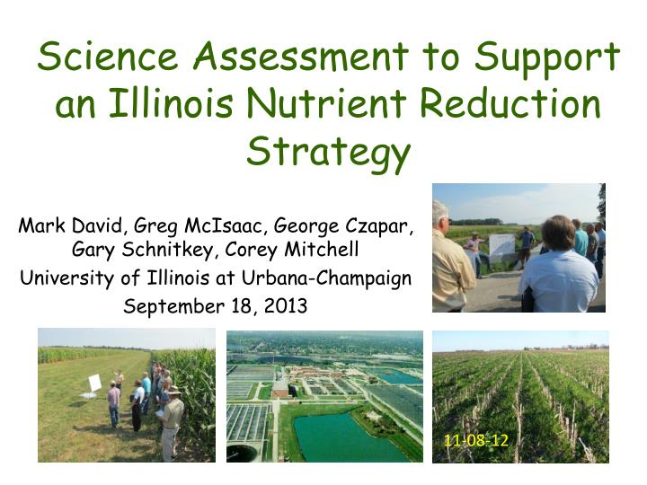 science assessment to support an illinois nutrient reduction strategy n.