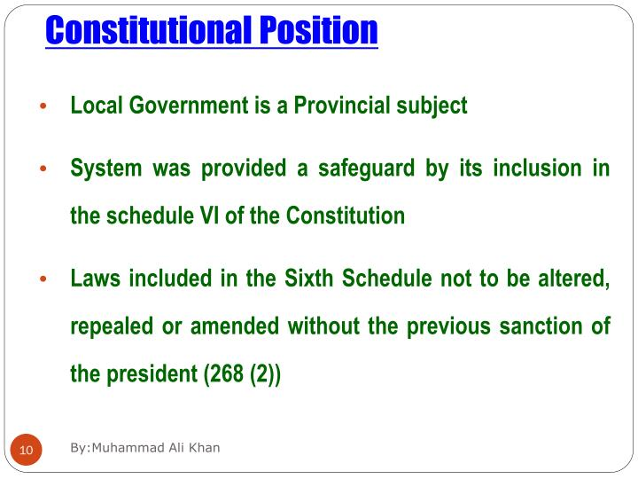 Constitutional Position