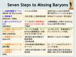 seven steps to missing baryons