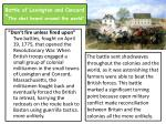 battle of lexington and concord the shot heard around the world