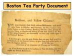 boston tea party document