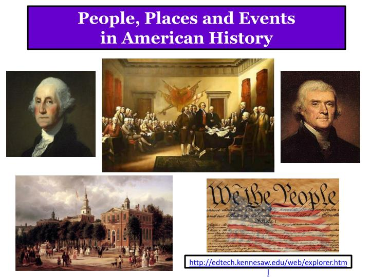 people places and events in american history n.
