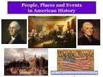 people places and events in american history
