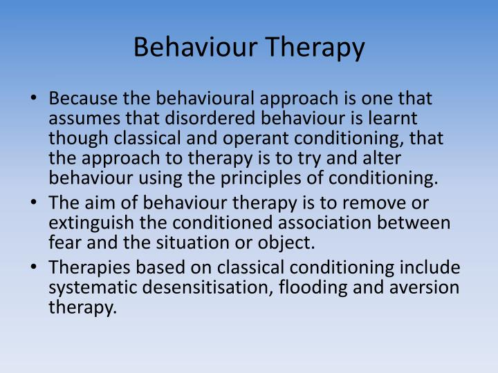 Behaviour therapy
