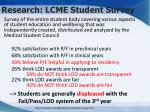 research lcme student survey