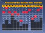 crosswords define the words