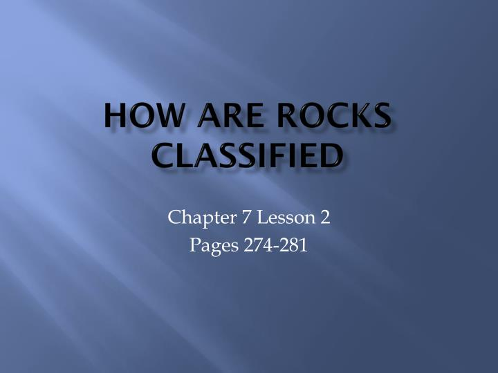 how are rocks classified n.