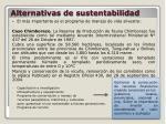 alternativas de sustentabilidad