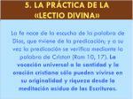 5 la pr ctica de la lectio divina