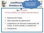 justificaciones para la dictadura de los centros1
