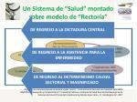 un sistema de salud montado sobre modelo de rector a1