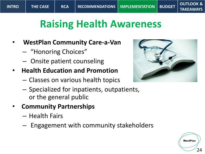 Raising Health Awareness