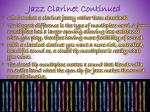 jazz clarinet continued