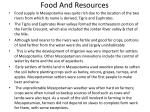 food and resources