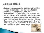 colores claros