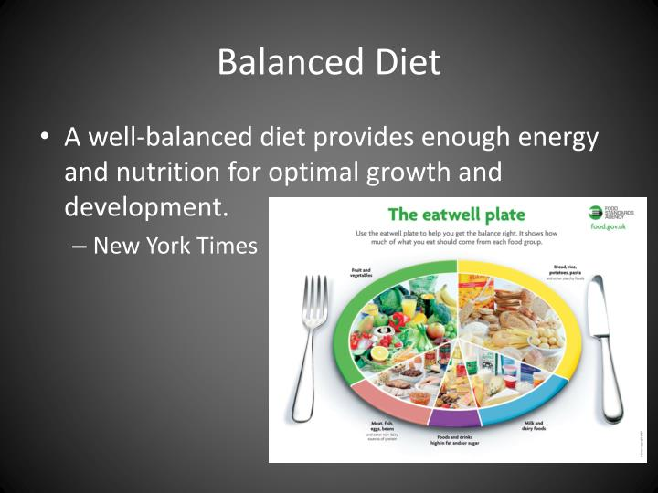advantages of balanced diet Here are the benefits: on a balanced diet you are getting a good amount of: carbs fats protein fruits veggies you won't get crazy urges when you find the right balance and you will satisfy your taste buds by have a piece of heaven now and then the key to a balanced diet is balancing it out with your exercise and workout routine.